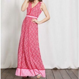 Boden Laurie Maxi Dress Pink Red 8L